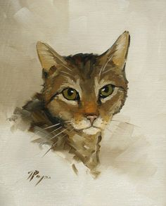 Items similar to Original Oil painting of a cat by UK artist J payne FREE SHIPPING on Etsy