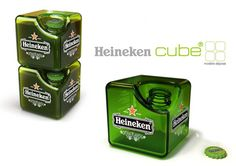 Creative Square Heineken Beer Bottle