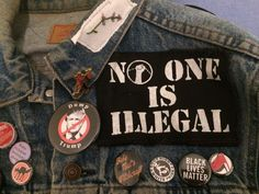 Ideas For Diy Clothes Grunge Punk Rock Style Estilo Punk Rock, Estilo Grunge, Rock Chic, Glam Rock, Rock Style, My Style, Patches Punk, Pin And Patches, Jacket Patches