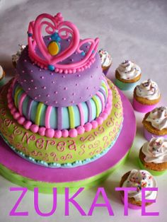 Torta+de+princesa Princess Party Cake