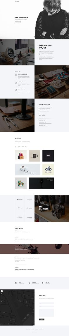 Candy | One Page Theme on Behance