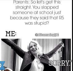 When I get in trouble for an r5 argument