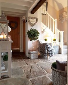 and even more hearts in our country house . - Hearts … hearts … and more hearts in our country house … converted barn. Country Farmhouse, Country Decor, Farmhouse Decor, Our Country, Country Hallway Ideas, Farmhouse Flooring, Country Barns, Country Homes, Cottage Living