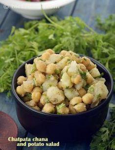 Spicy Potato and Chana Salad recipe | Vegetarian Recipes | by Tarla Dalal | Tarladalal.com | #48