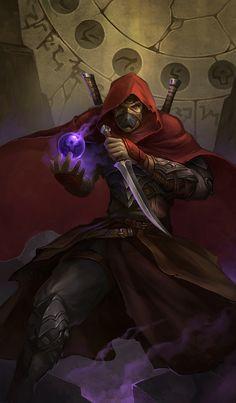 PQ2 assassin by *sandara on deviantART, dagger, light, caster
