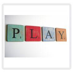 lettres decorative scrabble play