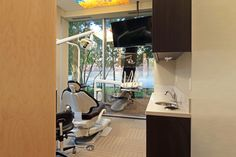 Dental chair and state of the art dental equipment at Kevin T Burke, DDS office