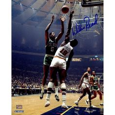 """Steiner Sports New York Knicks Willis Reed Blocking Bill Russell 8"""" x 10"""" Signed Photo, Multicolor"""