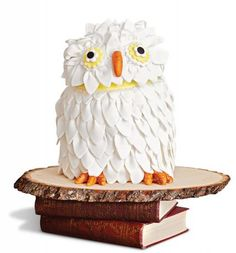 How to Throw a Harry Potter Party - Owl cake Idea Pinned by www.myowlbarn.com