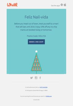@whittlapp  sent this email with the subject line: A gift just for you… - Read about this email and find more promotion emails at ReallyGoodEmails.com #app #gif #holiday #productsale #promotion