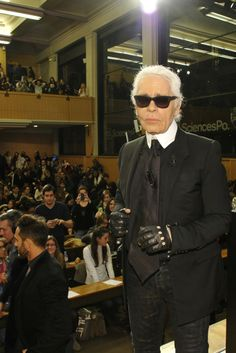 Karl Lagerfeld [Photo by Dominique Maitre]