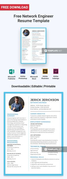 Teacher Resume Template / CV Template for Word, Two Page Resume