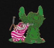 RARE Disney Auctions Alice In Wonderland Cheshire Cat Stitch Topiary Le 100 Pin