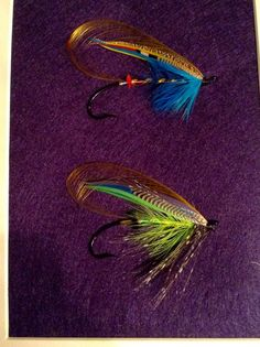 A couple Atlantic salmon fly feather wings