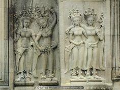 21 Apsara bas-reliefs, Angkor Wat