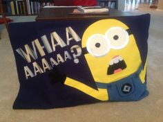 My 8 year old loves the minions from Despicable Me so for his birthday I made him this oversized pillow case .... He absolutely loves it!