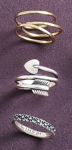 Find a special keepsake for every finger! #jamesavery