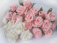 Light Pink Ivory wedding paper flowers by moniaflowers on Etsy
