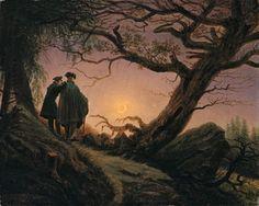 Le signe de la Vierge « Homme et femme contemplant la Lune » par Friedrich Read more at http://astral2000.e-monsite.com/pages/astrologie/page-6.html#L2pHmkitaQpOrTfg.99Femme et homme en contemplant la lune 1824