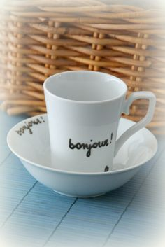 bonjour mug and bowl