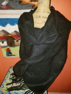 Alpaca Black shawl wraps deluxe Collection $65.00 #womens #womenswear #fashionstyle #fashion