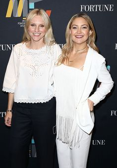 Laura Brown & Kate Hudson from The Big Picture: Today's Hot Pics  Lovely in white! The fashion duo are all smiles at Fortune's Most Powerful Women Summit in Dana Point.