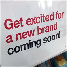 New Brand Coming-Soon Shelf-Sign Poster Display, Store Fixtures, Get Excited, Coming Soon, Fencing, Meant To Be, Target, Shelf, Brand New