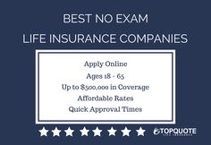 Life Insurance Quote 79 Best No Exam Life Insurance Guide Images On Pinterest  Best .