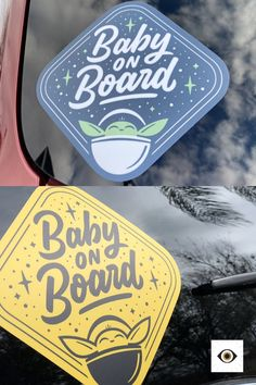 When in a galaxy far, far away, remind fellow drivers that there is a baby on board with this vinyl car window sticker inspired by Star Wars: The Mandalorian. Baby An Bord, Our Baby, Baby Boy, Car Window Stickers, My Bebe, Best Muscle Cars, Star Wars Party, Thing 1, Baby Registry