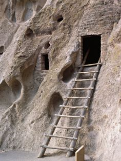 Ancient Anasazi Ruins and Cliff Dwellings, Bandlelier National Monument, New Mexico
