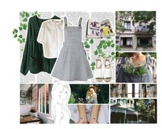 """""""Can you take me places I've never been before?"""" by jean-r ❤ liked on Polyvore featuring Monique Péan, white, GREEN and grey"""