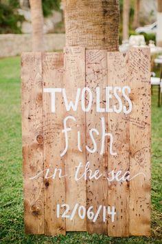 Two less fish in the sea: http://www.stylemepretty.com/destination-weddings/2015/04/29/cabo-san-lucas-beachside-hotel-wedding/ | Photography: Sara Richardson - http://www.sararichardsonphoto.com/