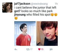 Smart a**. Well played #Got7 #Jinyoung