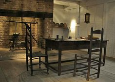 early kitchen-beautiful antique table & chairs