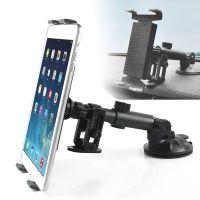 Universal Aluminium Holder til bilen m. sugekop til iPad/Samsung - sort
