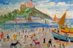 Boat Race, Marazion by Simeon Stafford featuring on White Court Art. Original Classic and Contemporary Fine Art.