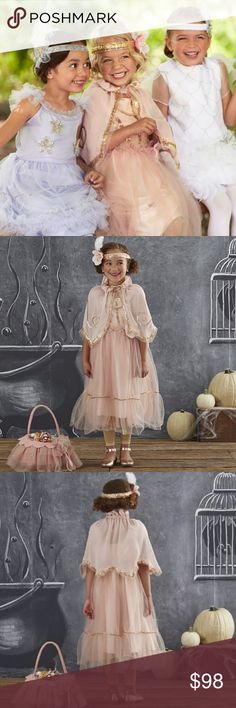 🆕 Pottery Barn Peach Flapper Costume Halloween Brand new still in package.  Size 3T. Comes with dress, cape, and headband. Pottery Barn Costumes Halloween