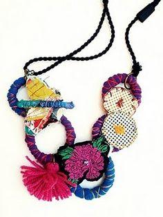 textil necklace chicadekyoto.blogspot