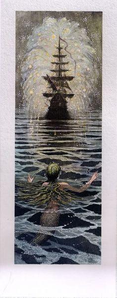 çizgili masallar: The Little Mermaid by Boris Diodorov