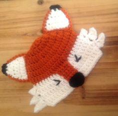 Crochet Baby Hat Fox Hat Baby Fox Hat Newborn by forgetmenotstudio