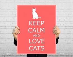 This fun poster is great for any cat lover and makes a great gift! This poster would look great in a bedroom, dorm room, or office! Choose your