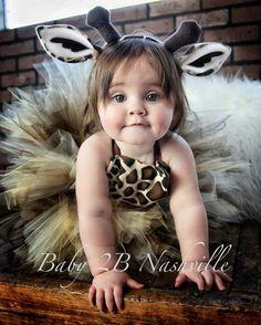 Safari Giraffe Costume With Leggings Birthday by Baby2BNashville