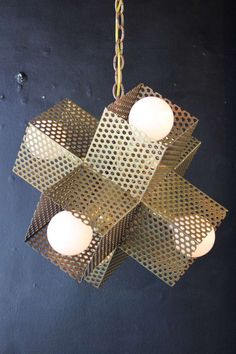 Downtown Perforated X Lamp | From a unique collection of antique and modern chandeliers and pendants  at http://www.1stdibs.com/furniture/lighting/chandeliers-pendant-lights/