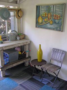 eclectic porch by Fiorella Design