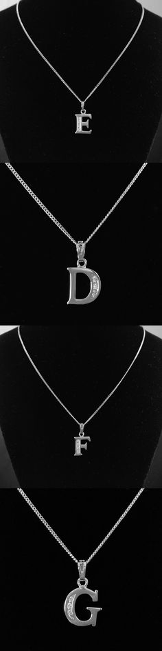D Capital Letter Necklace for Women Alphabet Pendant Collier Lettre Pingente Collar Mujer Colgantes Collana Kolye Kettingen NL-D