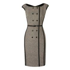 Karen Millen Animal jacquard on wool dress ❤ liked on Polyvore featuring dresses, vestidos, short dresses, mini dress, woolen dress, jacquard dress and wool mini dress