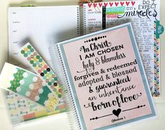 Bible Journaling and Prayer Notebook  DELUXE KIT - Ephesians 1 DBJ124, Bible Journaling, Prayer Journal