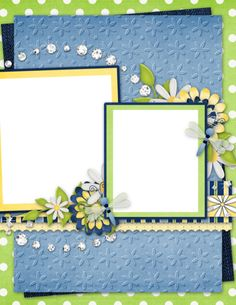 """Photo from album """"Denim And Daisies"""" on Yandex. Boarders And Frames, Frame Clipart, Scrapbook Designs, Page Layout, Layouts, Views Album, Digital Scrapbooking, Daisy, Clip Art"""