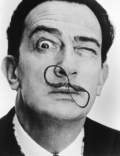 Salvador Dali and the quintessential moustache.