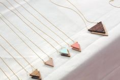 triangle + necklaces.